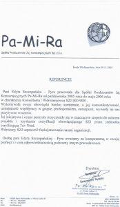 2005.11.09 - Spółka Producentów Jaj Konsumpcyjnych Sp. z o.o. Pa-Mi-Ra w Środzie Wlkp.