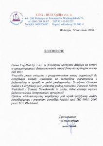 2008.09.12 - Ceg Bud Sp. z o.o. z Wolsztyna