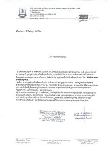 2011.02.18 Referencja od Złotowskiej Spółdzielni Handlowo Produkcyjnej
