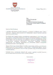2011.07.19 Referencja od Marszałka województwa Wielkopolskiego