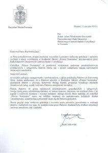 2015.01.21 - Prezydent Miasta Poznania