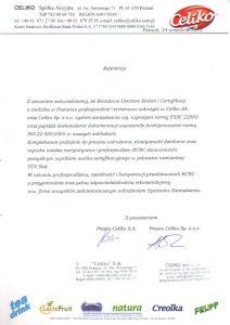 2015.09.24 Celiko SA, Celiko Sp. z o.o.