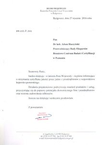 2016.01.27 - Wojewoda Kujawsko Pomorski